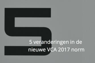 5 veranderingen VCA 2017