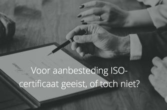 aanbesteding iso-certificaat