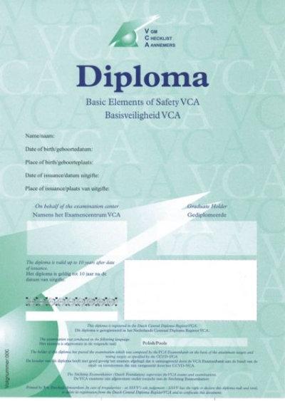 VCA-persoonscertificaat