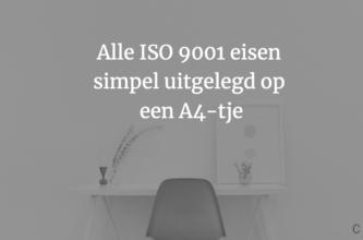 Alle ISO 9001 eisen simpel uitgelegd op één A4'tje
