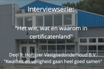 Het wie, wat en waarom in certificatenland: Hoftijzer Vastgoedonderhoud B.V.