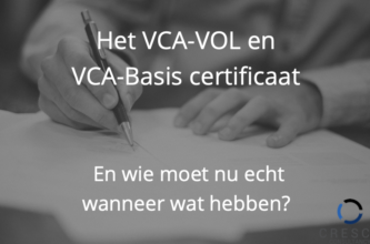 VCA-VOL en VCA-Basis certificaat