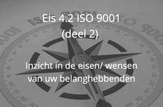 Inzicht in de wensen van uw belanghebbenden ISO 9001 eis 4.2