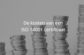 De kosten van een ISO 14001 certificaat in 2021